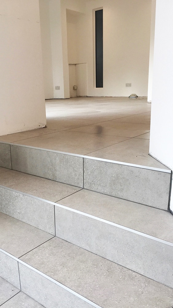 Ceramic Tiled Stairs Domestic And Commercial Tiling Contractors