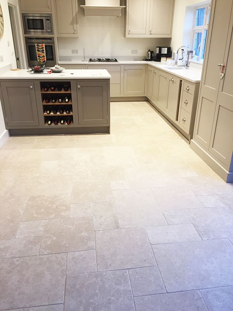 Laid natural stone kitchen flooring - Domestic and ...
