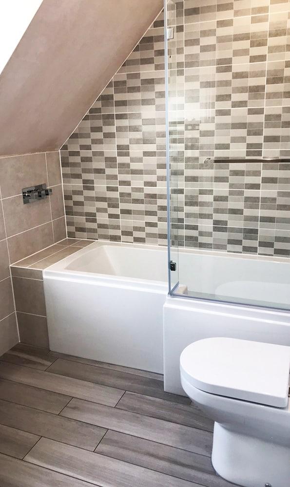 Mosaic Effect Bathroom Tiles Domestic And Commercial Tiling - Bathroom tile contractors