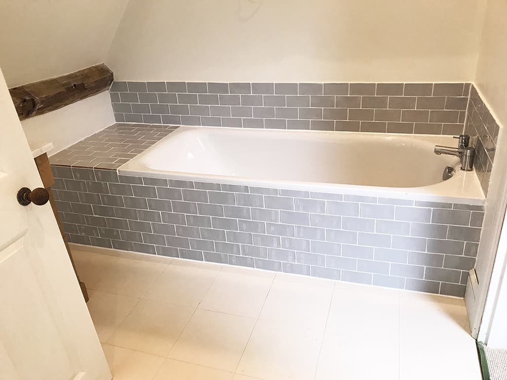 Tiled bath and walls - Domestic and commercial tiling contractors ...