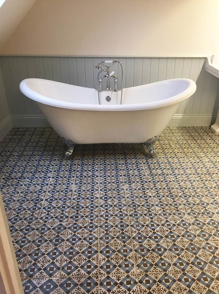 Vintage Tiling Bathroom Floor Domestic And Commercial Tiling - Bathroom floor contractors